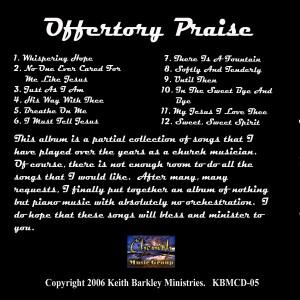Offertory Praise Back